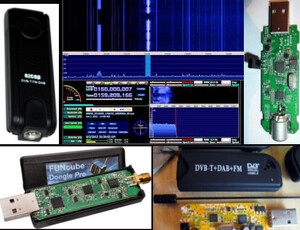 Andy K1RA demonstrates various USB SDR hardware and SDR software