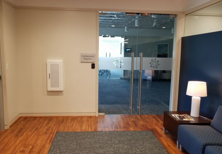 Entrance to conference rooms
